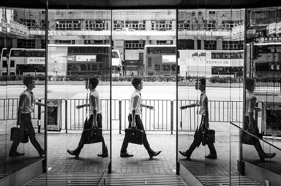 Street Photograph - Which Way To Go, East Or West by Joe B N