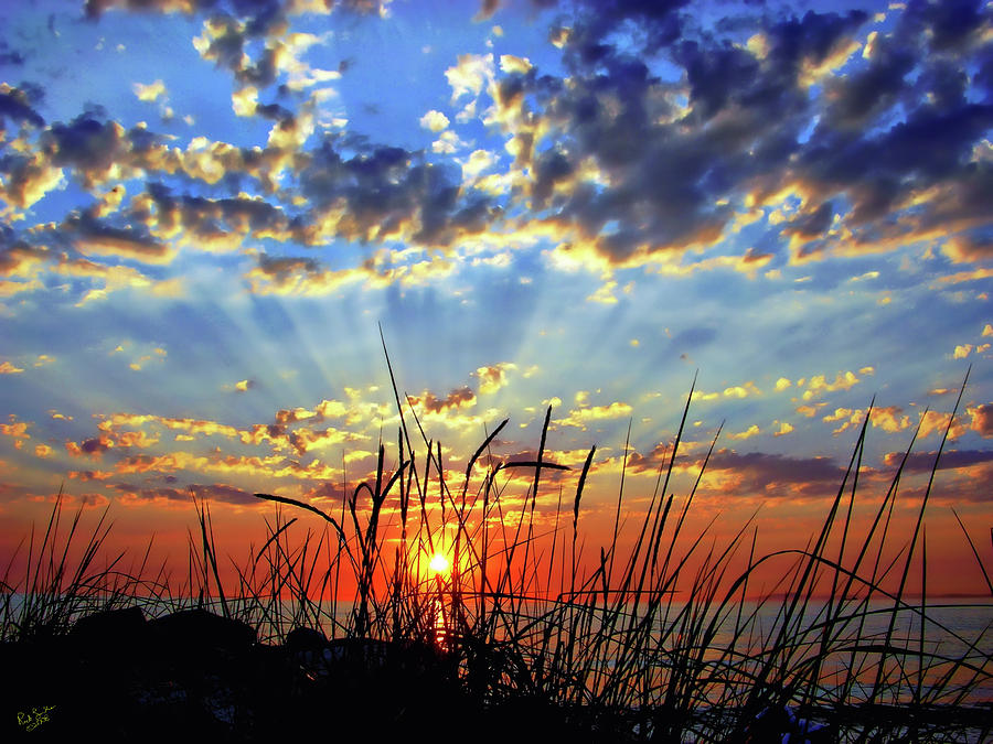 Sun Photograph - Whidbey Island Sunset by Rick Lawler