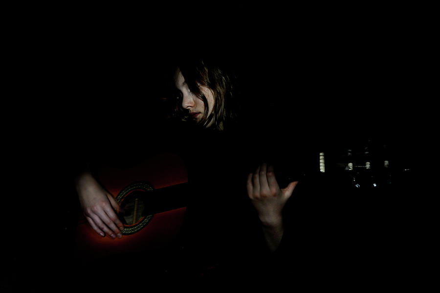 While My Guitar Gently Weeps Photograph by Arwenabendstern