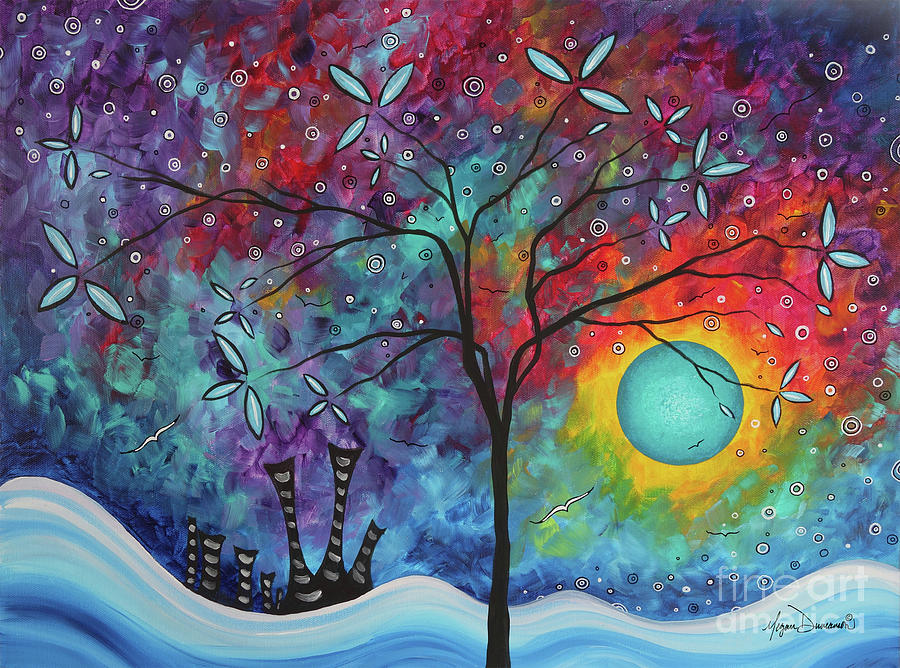 Whimiscal Abstract Original Painting Tree Art by Megan Duncanson MADART by Megan Duncanson