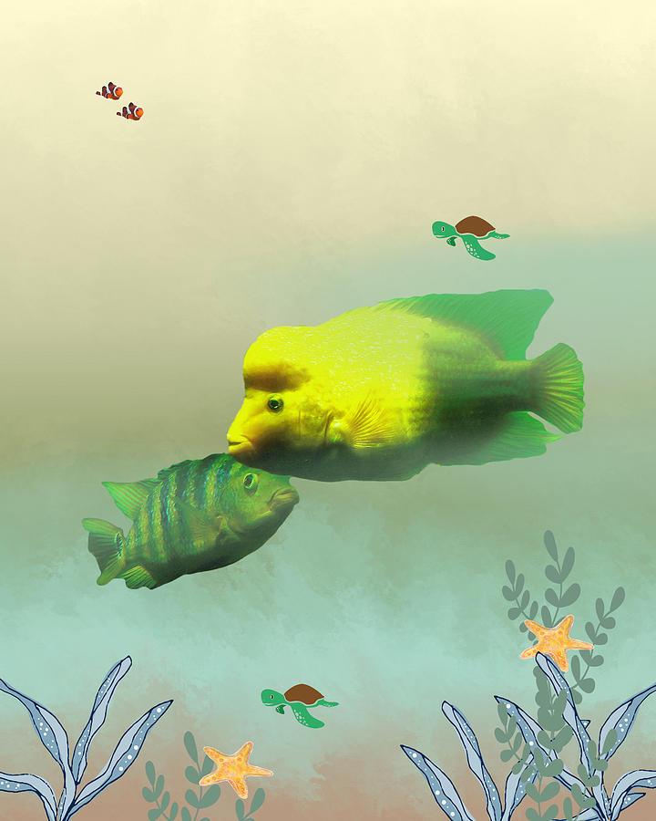 Fish Mixed Media - Whimsical Fish by Rosalie Scanlon