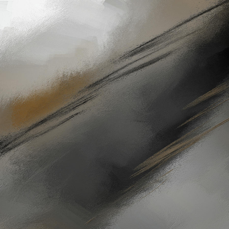 Whispered - Gray And Taupe Abstract Art by Lourry Legarde