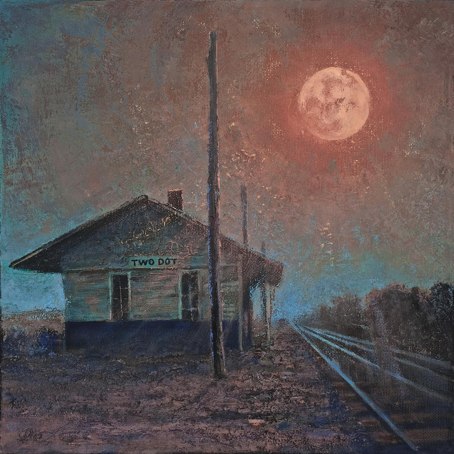 Full Moon Painting - Whistle of the Past by Mia DeLode