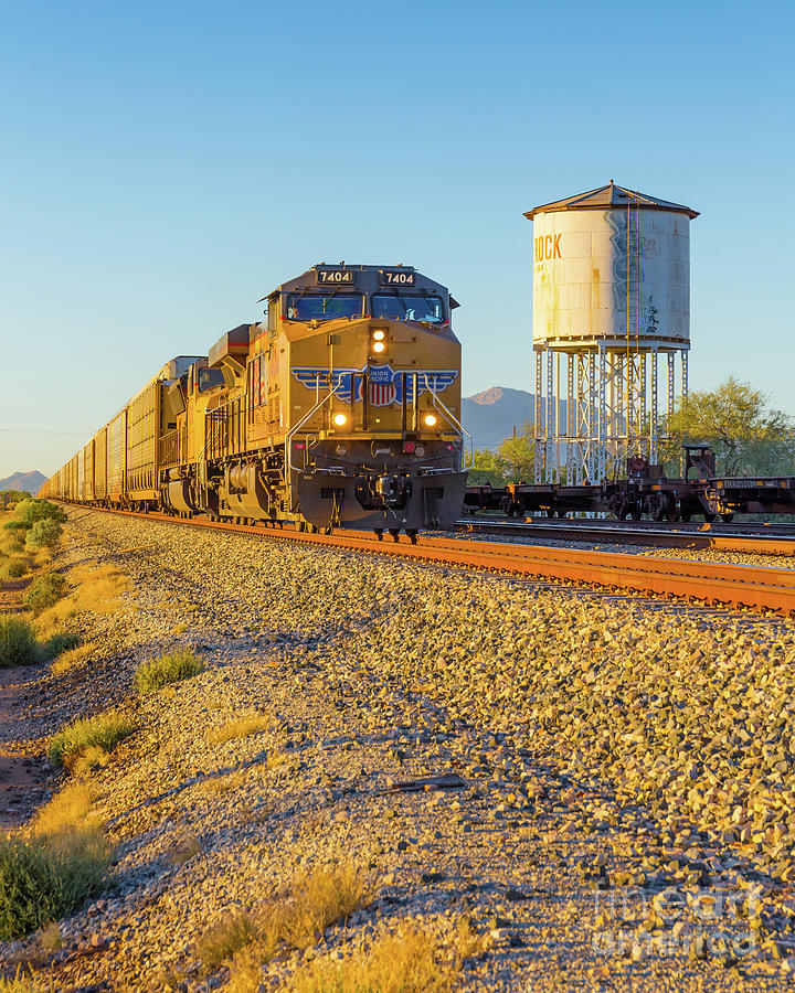 Locomotive Photograph - Whistle Through Red Rock by Edward Fielding
