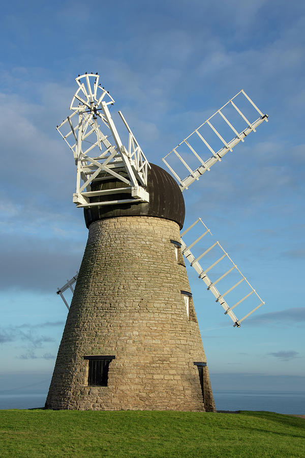 Whitburn Photograph - Whitburn Windmill by Steev Stamford
