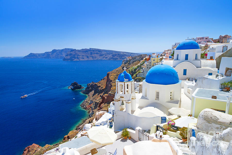 Beauty Photograph - White Architecture Of Oia Village On by Patryk Kosmider