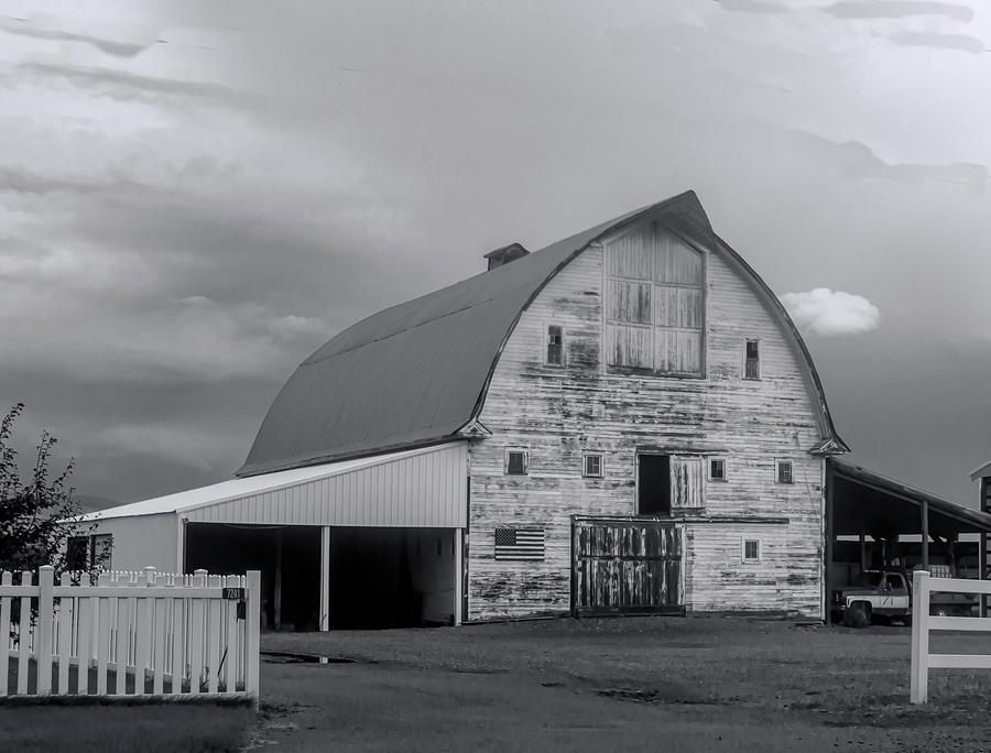 White Barn 8 by Cathy Anderson
