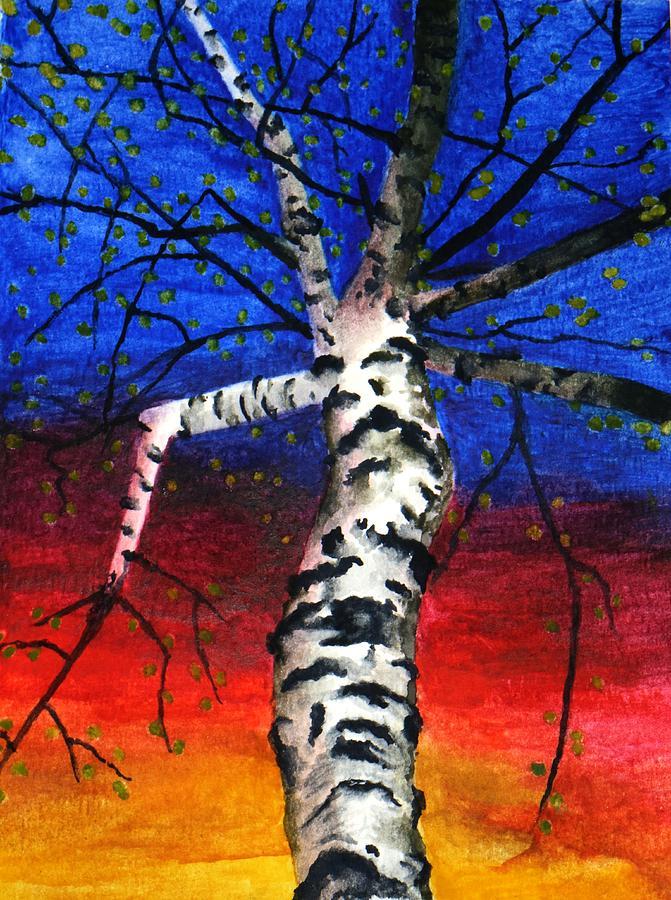 White Birch in Spring by Robert Morin
