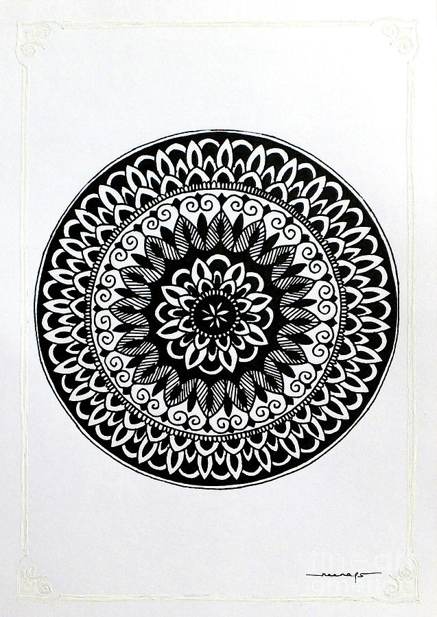 White Border Mini Mandala 2 by Kreativ Corner
