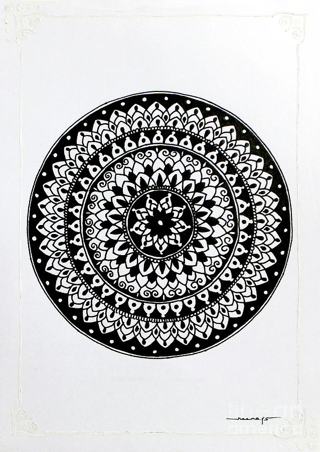 White Border Mini Mandala 3 by Kreativ Corner