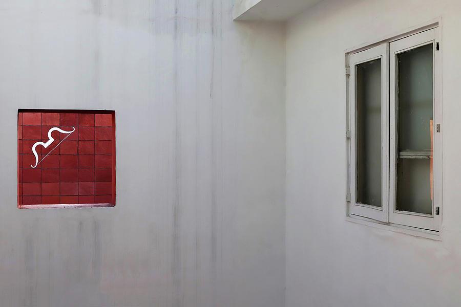 White Bow Red Square by Prakash Ghai