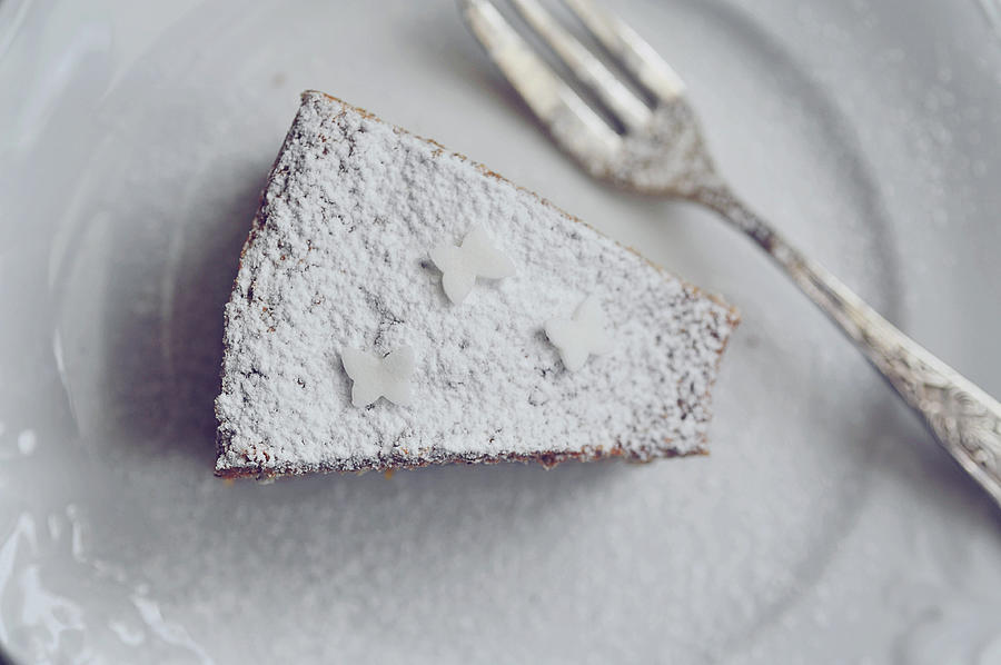 White Cake Photograph by = Blue Spoon =