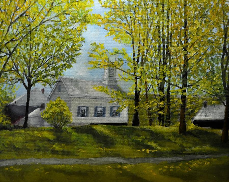 White Church in Spring by Valerie Bassett