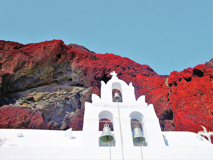 White Church Red Rock-2 by Linda Parker