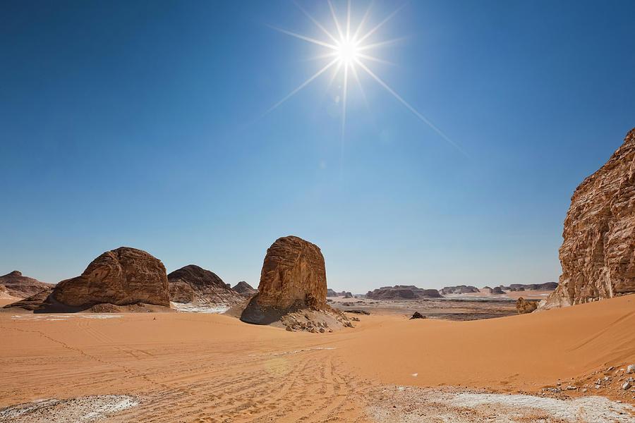 rays, Desert, sun - Nice wallpapers: 1920x1080