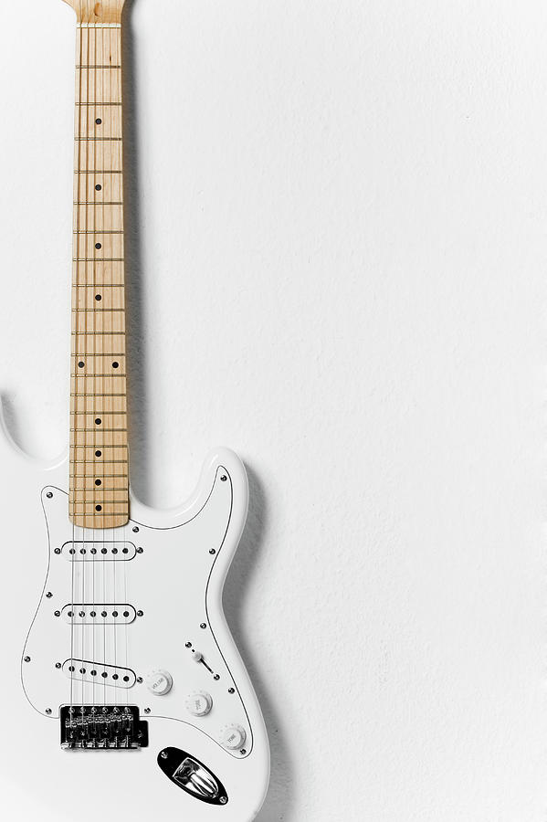 White Electric Guitar Photograph by Stock4b Creative