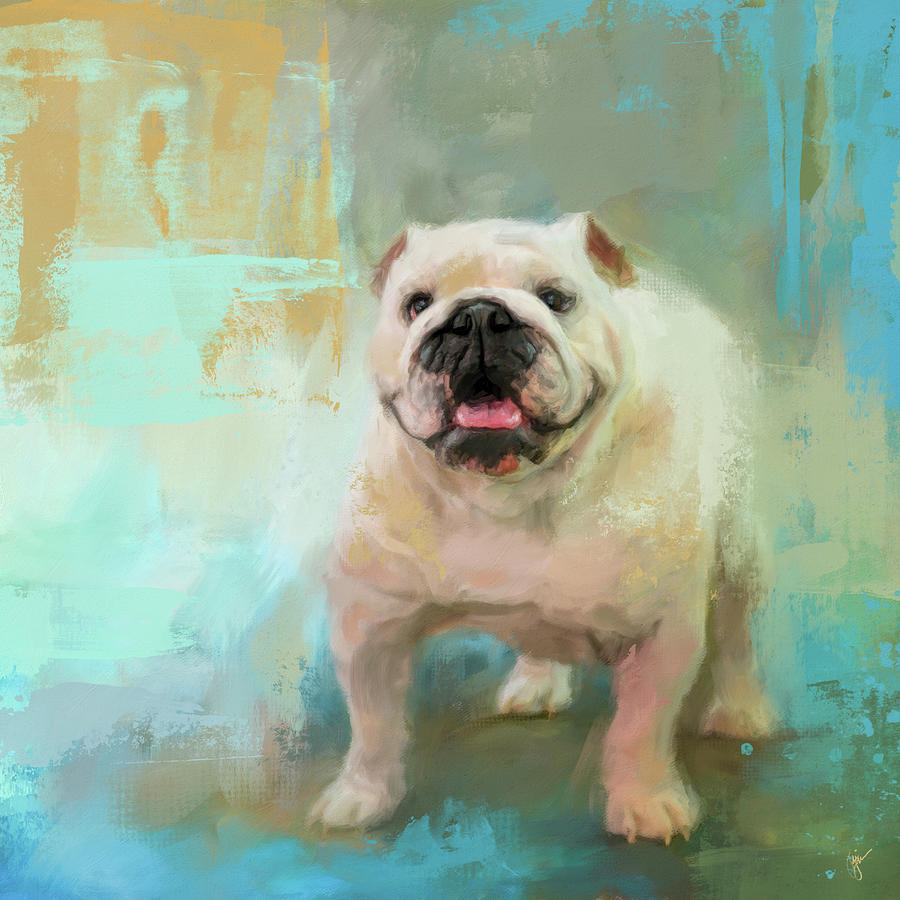 White English Bulldog by Jai Johnson