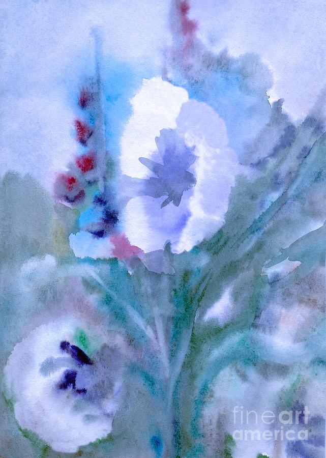 White flower at twilight by Irina Dobrotsvet