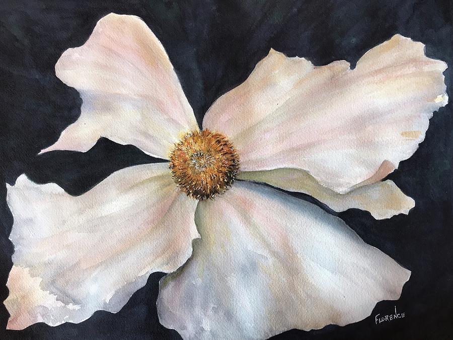 White flower  by Florence Ferrandino