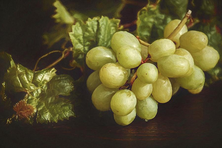 Abstract Photograph - White Grapes by Robert Kinser