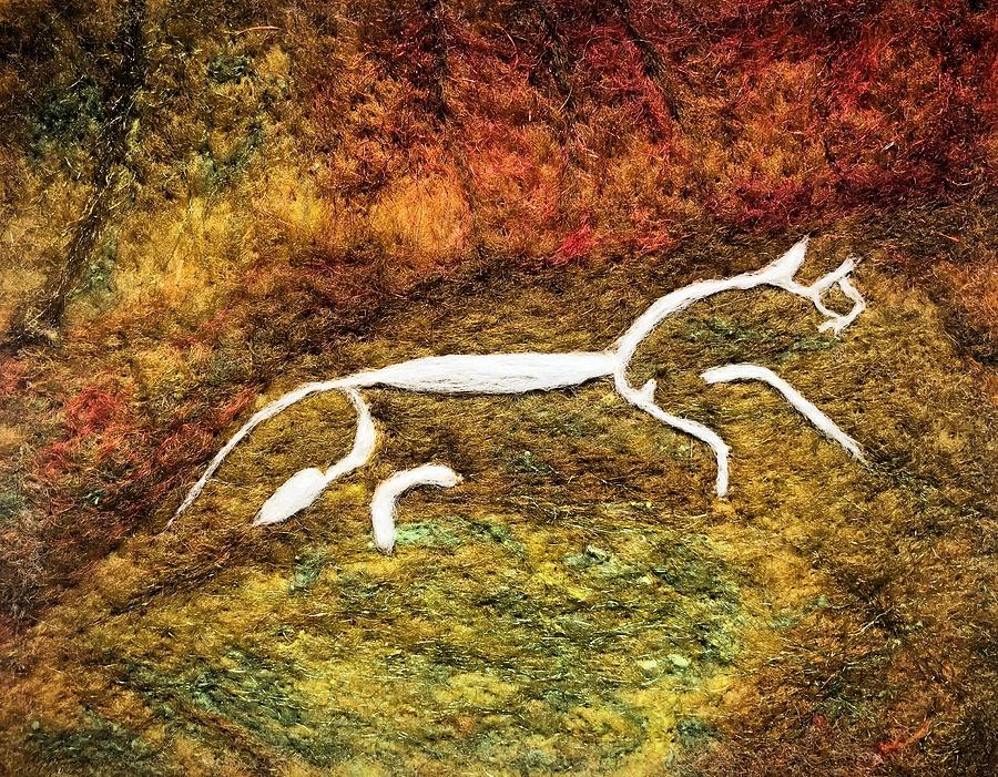 White Horse HIll Red by Ushma Sargeant