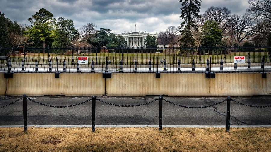 White House Fence by William Chizek