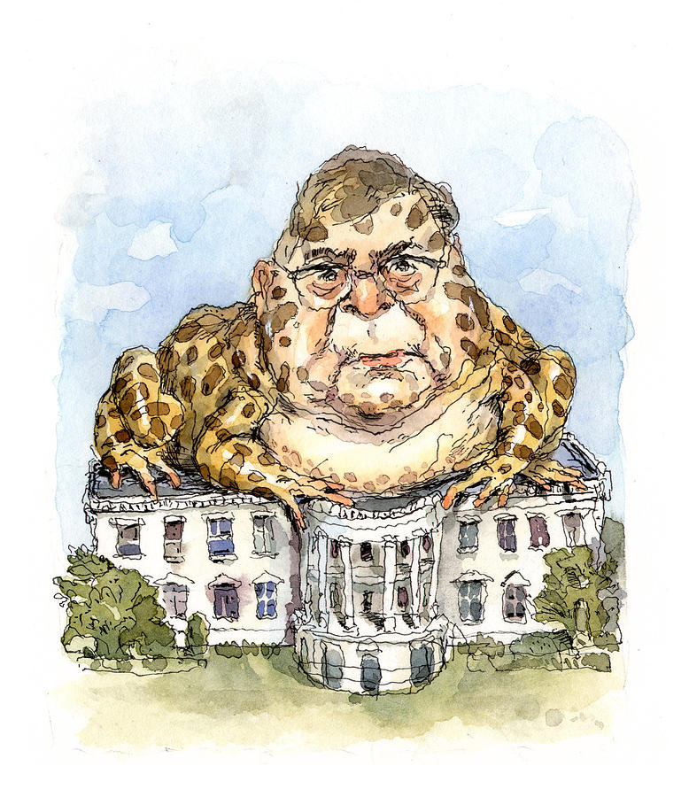 White House Toady Painting by John Cuneo