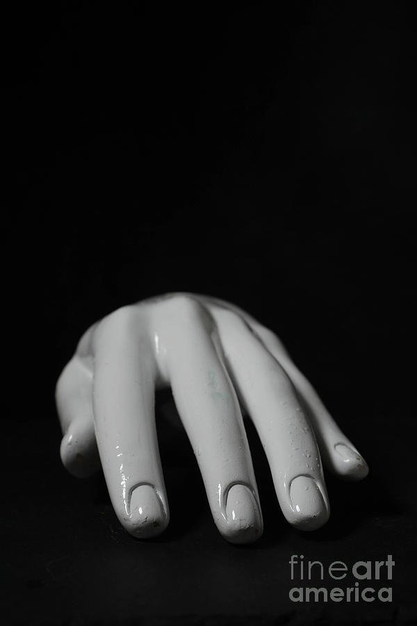 White Mannequin Hand over Black by Edward Fielding