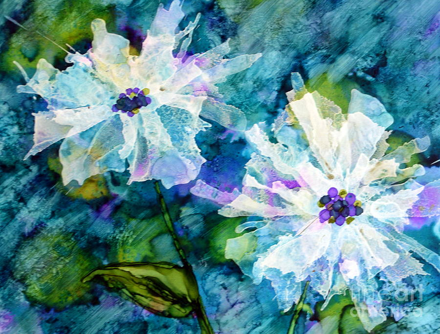 White on Blue by Beth Kluth