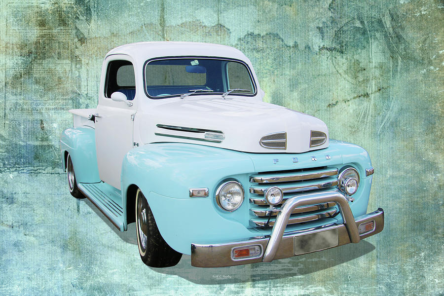 White on Blue Pickup by Keith Hawley