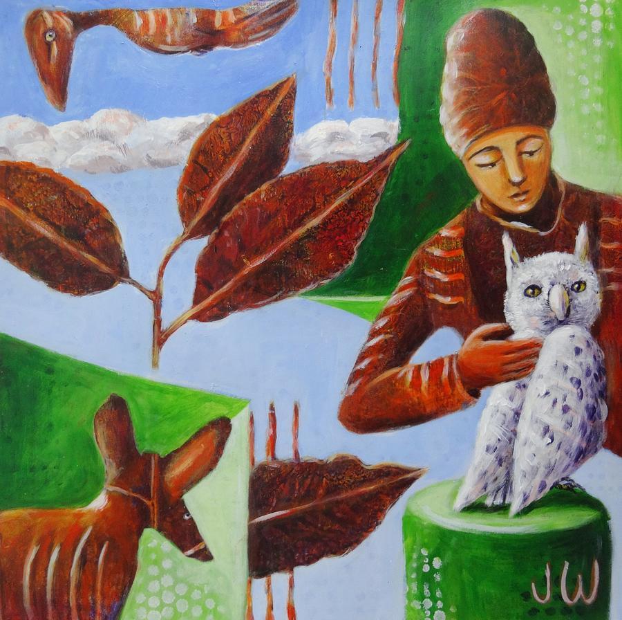 White owl by June Walker