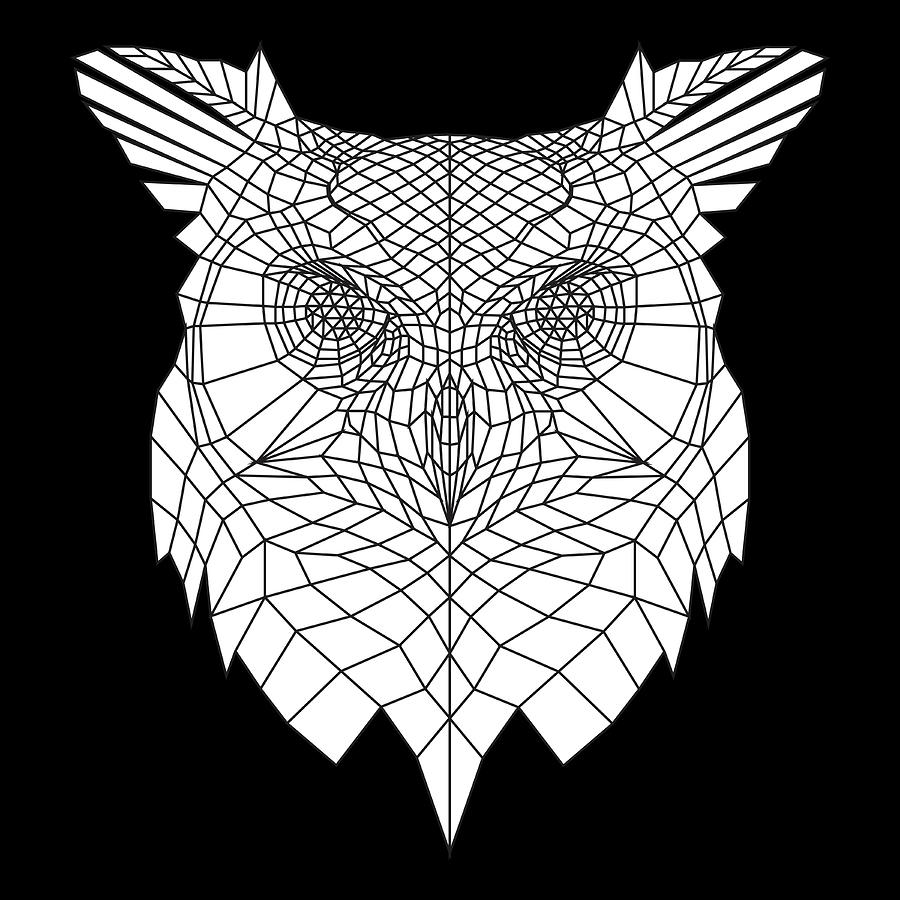 Owl Digital Art - White Owl by Naxart Studio