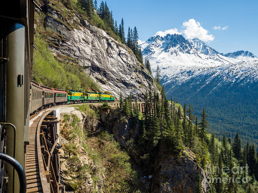 Mountains Photograph - White Pass Train  Alaska by Gary Rolband
