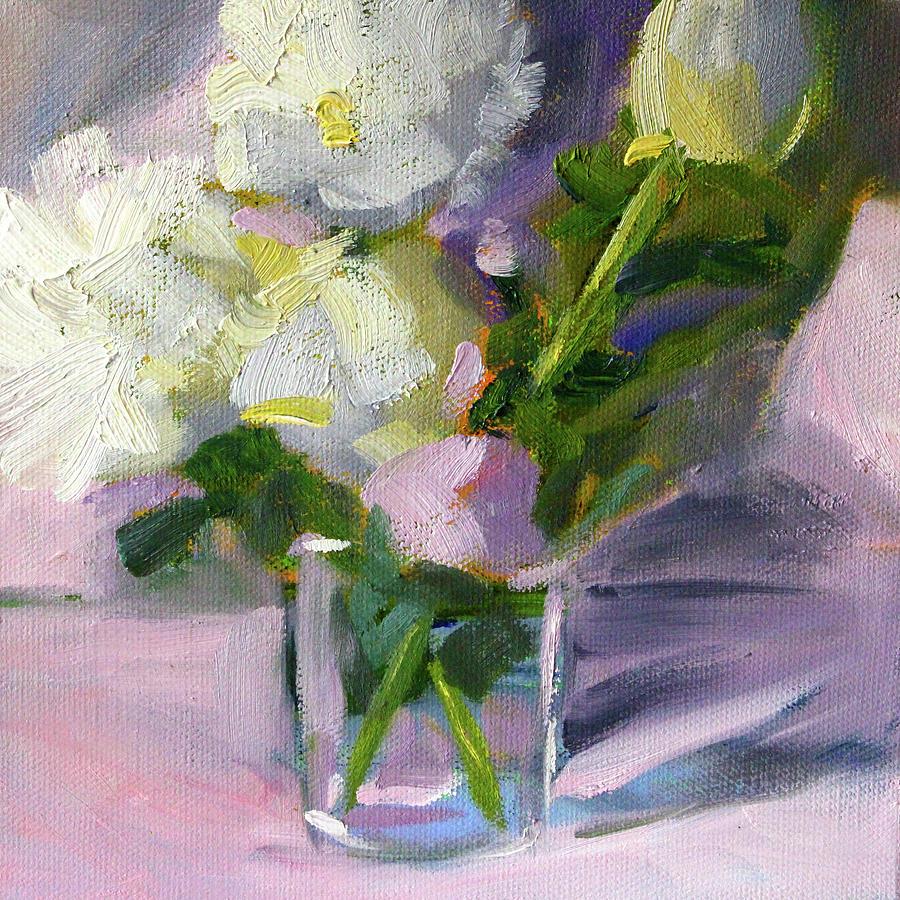 White Peonies by Nancy Merkle