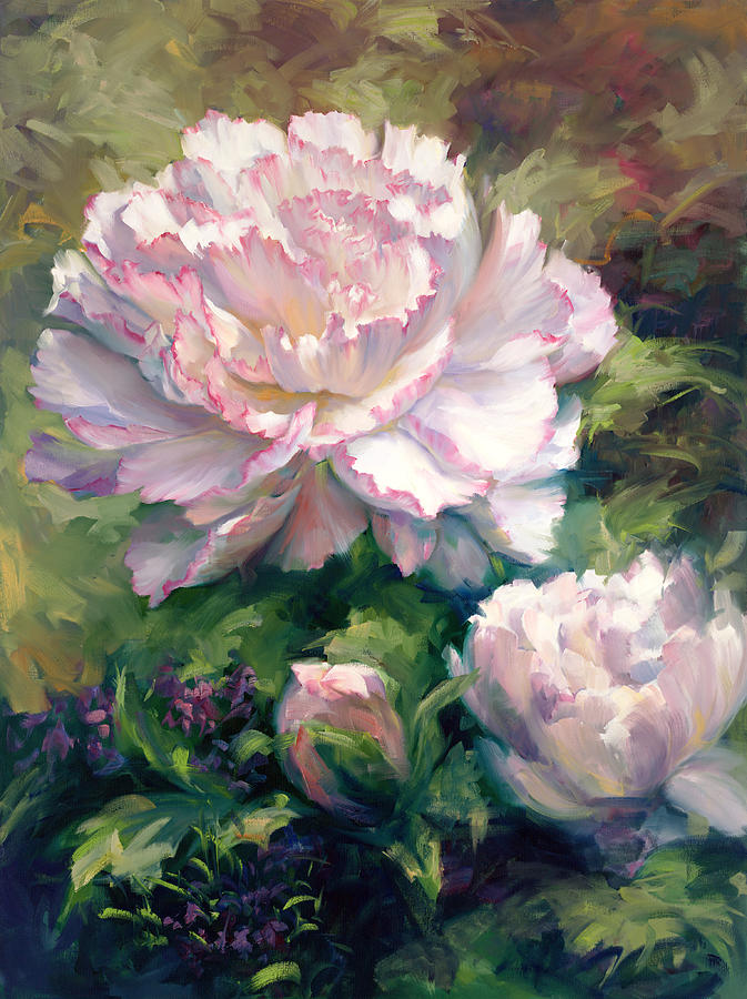 White Peony I Painting By Laurie Snow Hein