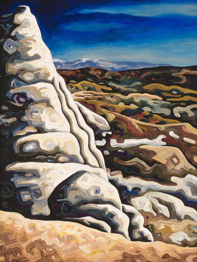 Contemporary Landscape Painting Painting - White Pillar by Dale Beckman