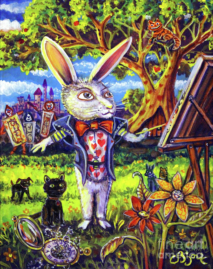 White Rabbit Alice In Wonderland by CBjork Art