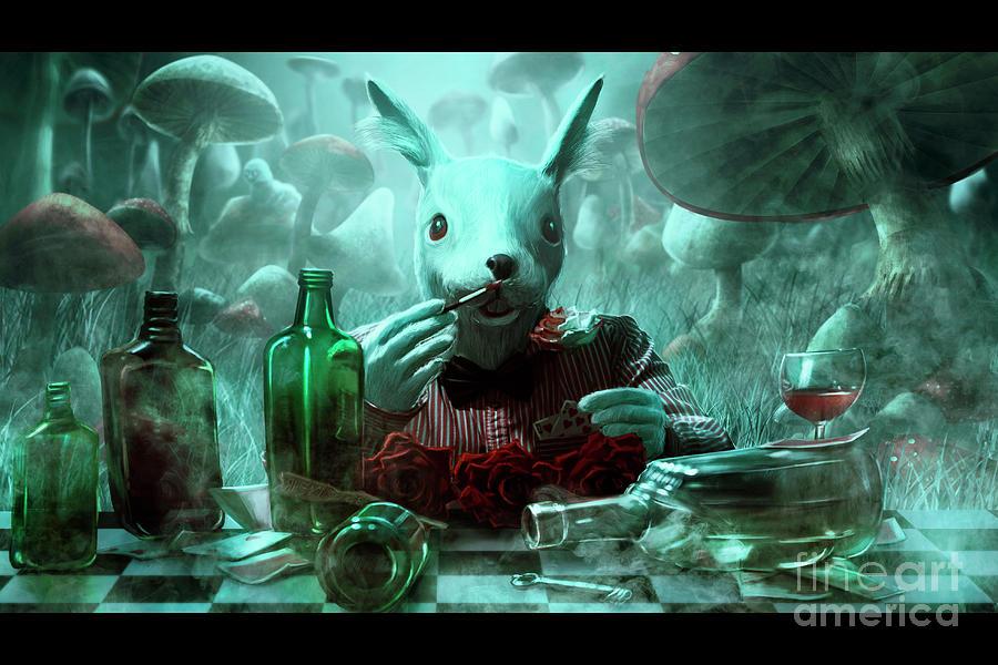 White Rabbit Digital Art by Svetlana smirnova