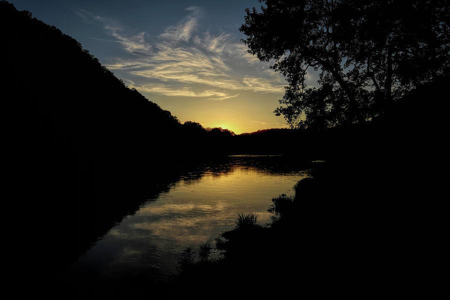 White River Golden Reflection Photograph