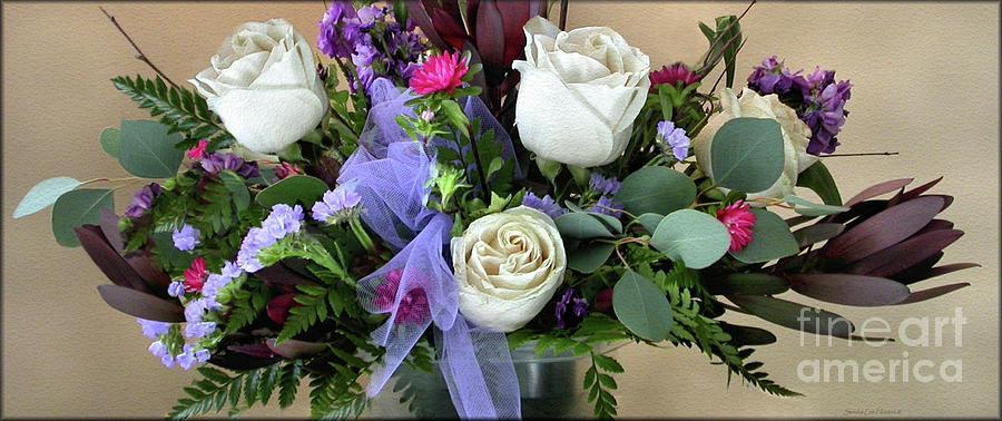 White Rose Bouquet by Sandra Huston