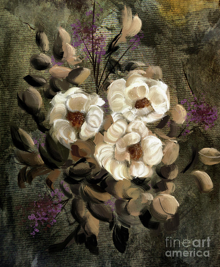 White Roses by Lois Bryan