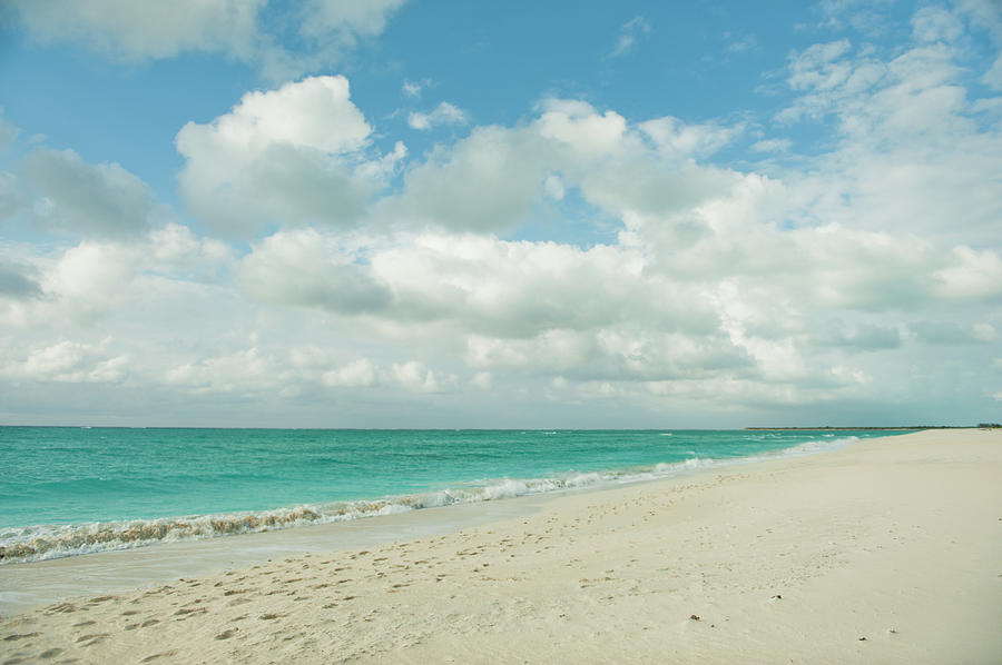 Water's Edge Photograph - White Sand Along A Blue Green Ocean by Design Pics / Helene Cyr