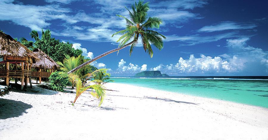 White Sand Beaches Of Samoa Photograph by Kirklandphotos