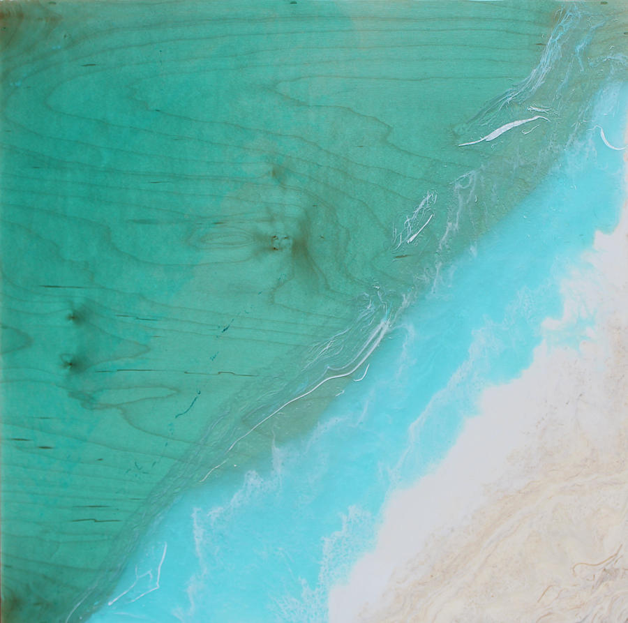 White Sands Beach Painting by Kelly Gowan