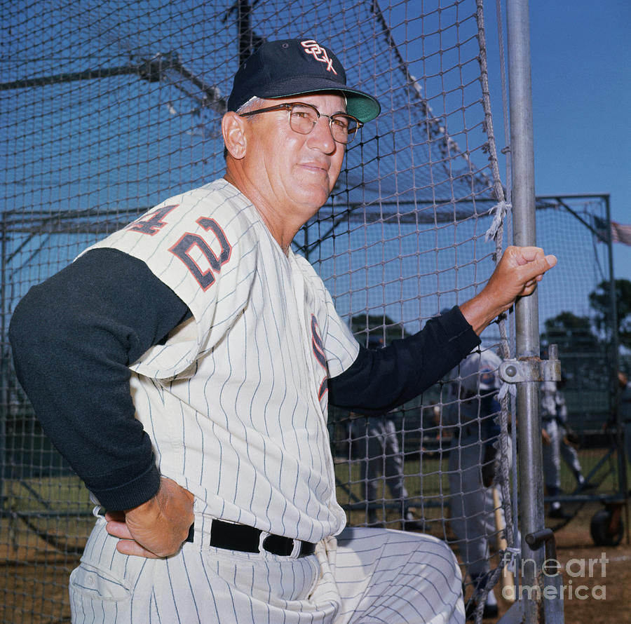 White Sox Manager Al Lopez Posing By Net Photograph by Bettmann