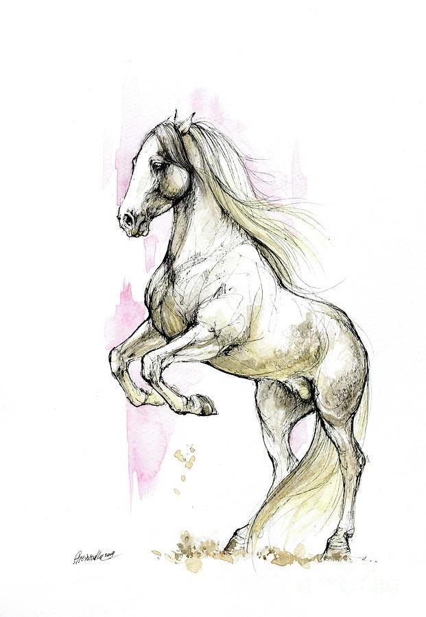 White Stallion by Angel Ciesniarska
