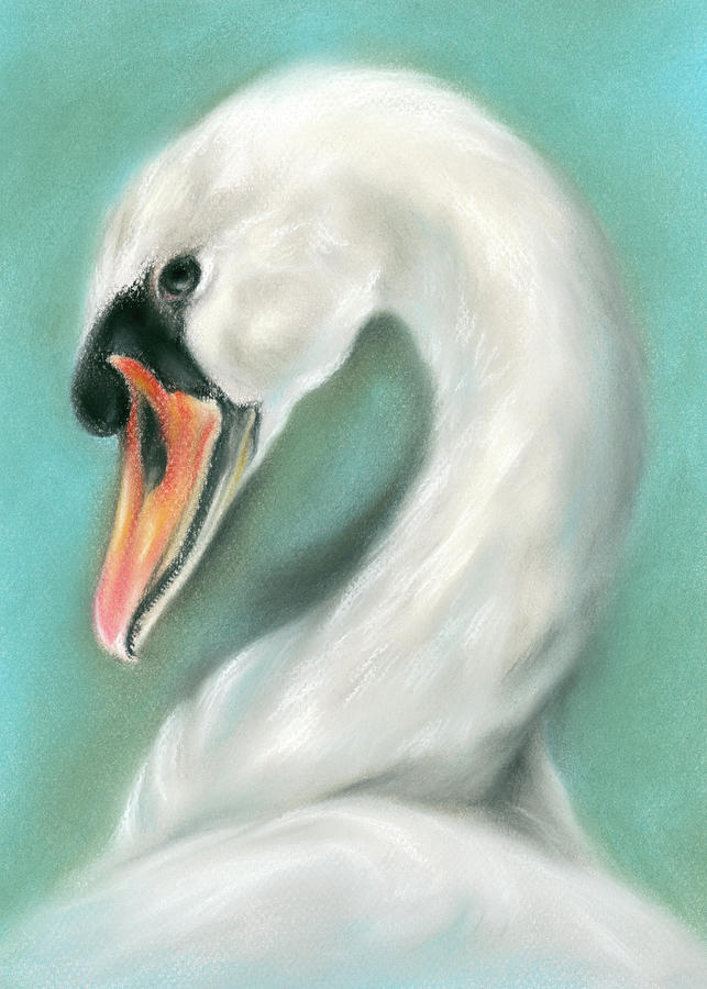 White Swan Portrait by MM Anderson