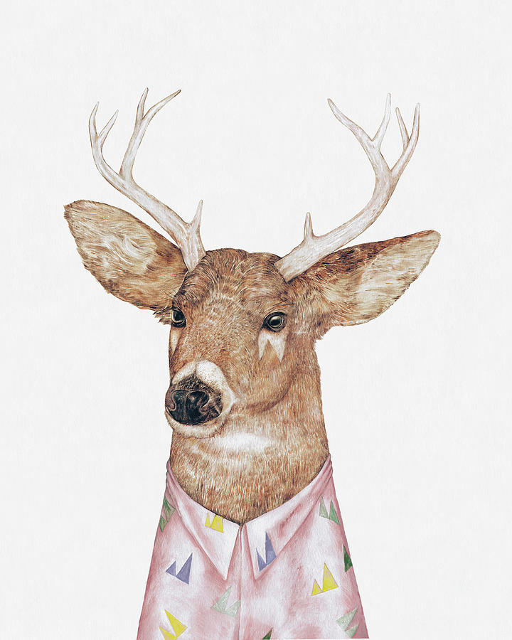 Deer Painting - White-Tailed Deer by Animal Crew