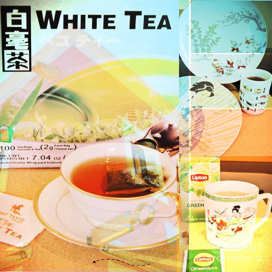 Poster Digital Art - White Tea Blend  by Karen Francis