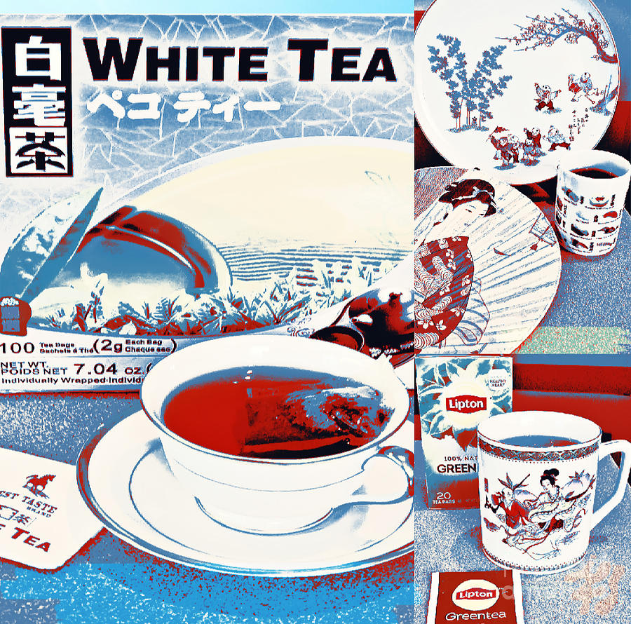 White Tea in Blue and White by Karen Francis